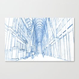 BluePrints | Brookfield Place Glass Arcade - Toronto Canvas Print
