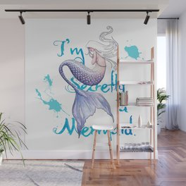 Secretly a Mermaid Wall Mural