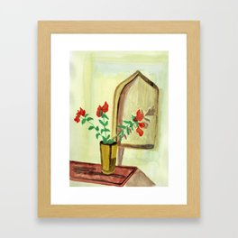 Touch of red Framed Art Print