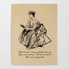 Lousia May Alcott - Good Books Poster