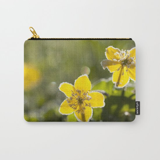 Frozen buttercup in love Carry-All Pouch