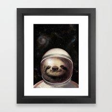 Space Sloth Framed Art Print
