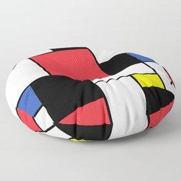 De Stijl Neoplastic Art Floor Pillow