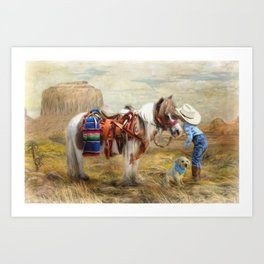 Cowboy Up Art Print