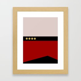 Picard -Minimalist Star Trek TNG The Next Generation  Captain Jean Luc Picard startrek Trektangles Framed Art Print