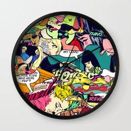 Urban Camo Pattern Wall Clock