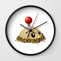 potato Wall Clocks featuring Potato Mine by ThisTinyBean.