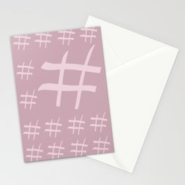 Digital hash tags Stationery Cards