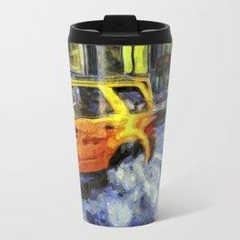 New York Taxis Art Travel Mug