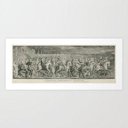 The Canterbury Pilgrims - William Blake Art Print