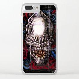 Def Alien Skull Clear iPhone Case