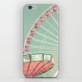 Pink and mint nursery composition iPhone Skin