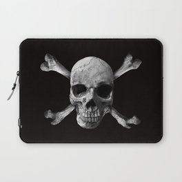 Jolly Roger - Black and White Laptop Sleeve