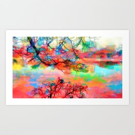 At peace at the end of the day Art Print