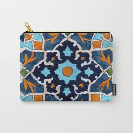 Mediterranean tile Carry-All Pouch