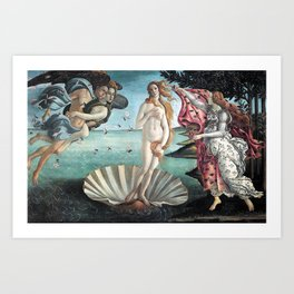 BIRTH OF VENUS - BOTTICELLI Art Print