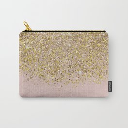 Pink and Gold Glitter Carry-All Pouch