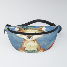 Autumn Woodland Friends Fox Forest Illustration Fanny Pack
