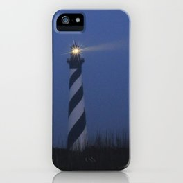 Cape Hatteras at night iPhone Case