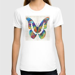 Colorful Butterfly Art by Sharon Cummings T-shirt