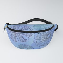 Blue Sea Urchin Fanny Pack