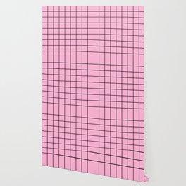 Rose Quartz Grid Wallpaper