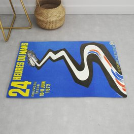 1972 Le Mans poster, car poster, race poster, t-shirt Rug