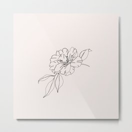 Tropical flower illustration - Mona I Metal Print
