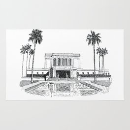 Mesa Arizona LDS Temple Rug