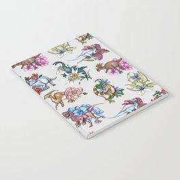 Dinosaur Floral Pattern Notebook