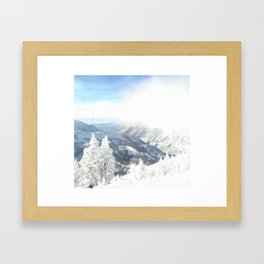 White Winter Framed Art Print