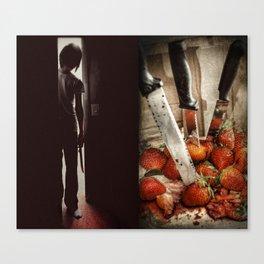Strawberry Massacre Canvas Print