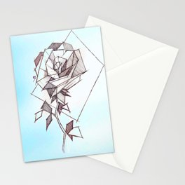 Geometric Rose Stationery Cards