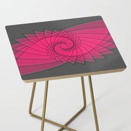 hypnotized - fluid geometrical eye shape Side Table
