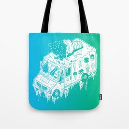 Melty Ice Cream Truck - Mint Tote Bag