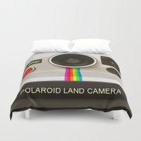 polaroid Duvet Covers featuring POLAROID by MiliarderBrown