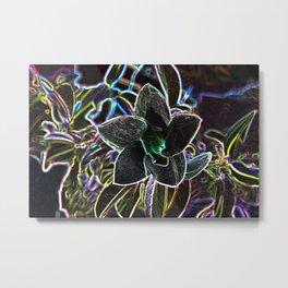 Fancy Prismatic Neon Colors Flower Blossom Metal Print