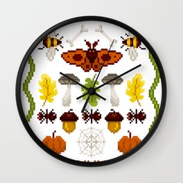 Fall Vibes Wall Clock