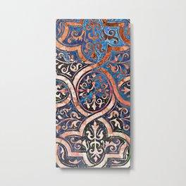 Desert and Blue Filigree Metal Print