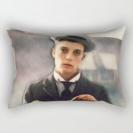 Buster Keaton, Comedian Rectangular Pillow