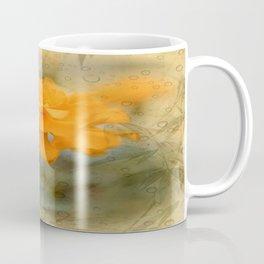 Orange Marigold  Raindrop Abstract Coffee Mug
