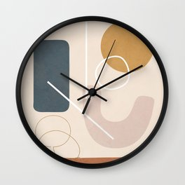 Minimal Abstract Shapes No.57 Wall Clock