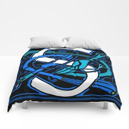 Celtic Peacocks Letter S Comforters