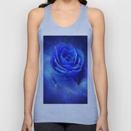 Blue Rose Unisex Tank Top