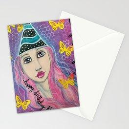 Happy Birthday KIF Girl Stationery Cards