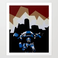 robocop Art Prints featuring RoboCop by iankingart