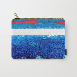 Two red brush strokes for Matisse Carry-All Pouch