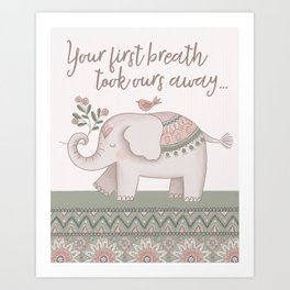 Bohemian Elephant Art Print