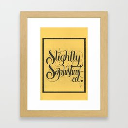 """THE YELLOW COLLECTION — """"SLIGHTLY SOPHISTICATED"""" Framed Art Print"""