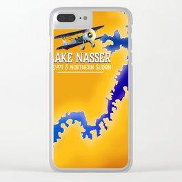 Lake Nasser Egypt & Sudan Map Clear iPhone Case